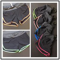 专业健身热裤瑜伽裤透气跑步运动弹力内胆速干短裤带内衬防走光女