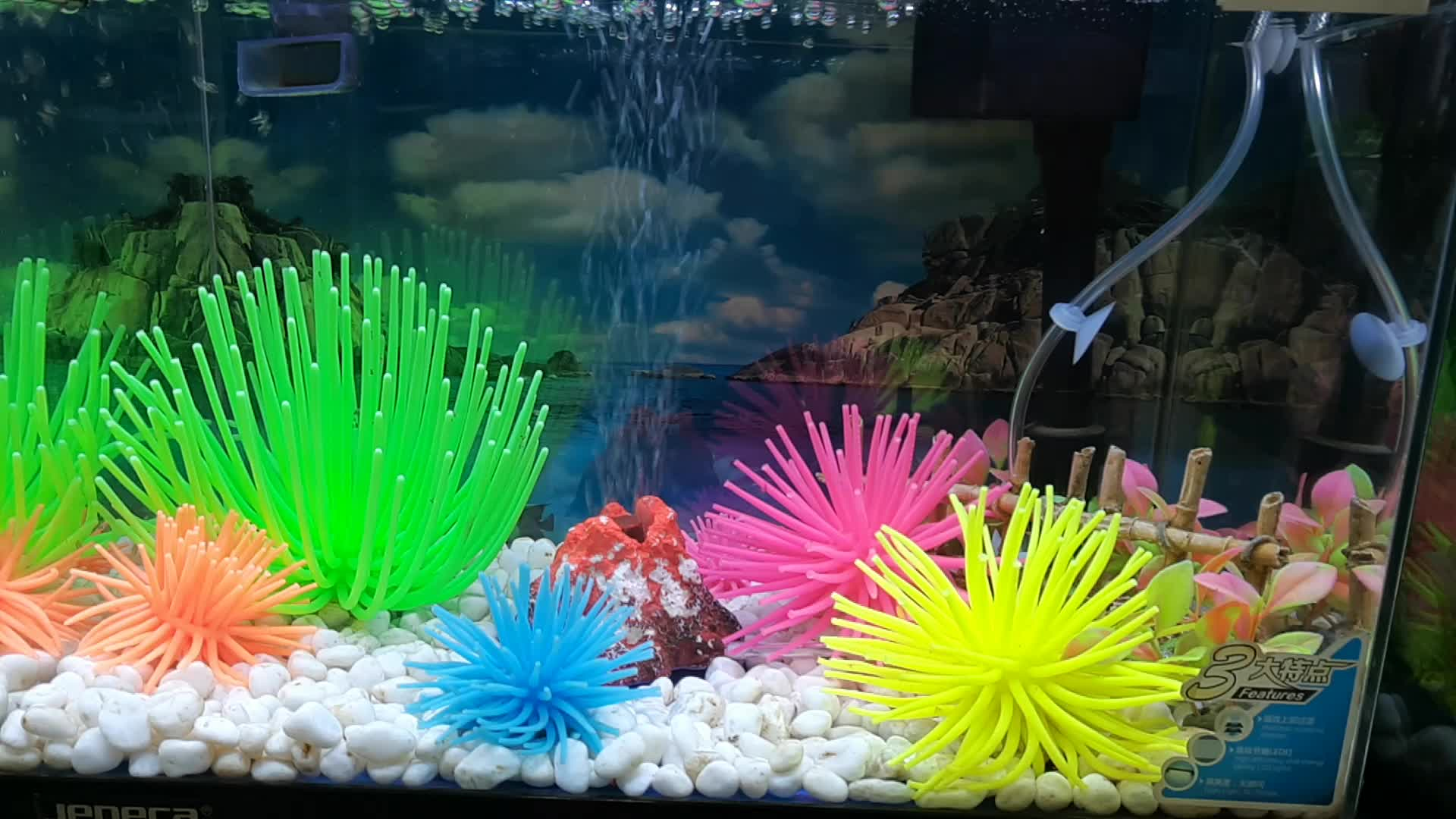 Fish Tank Decor Simulation Under Sea World Sea urchin Artificial Coral Plant Aquarium Ornament