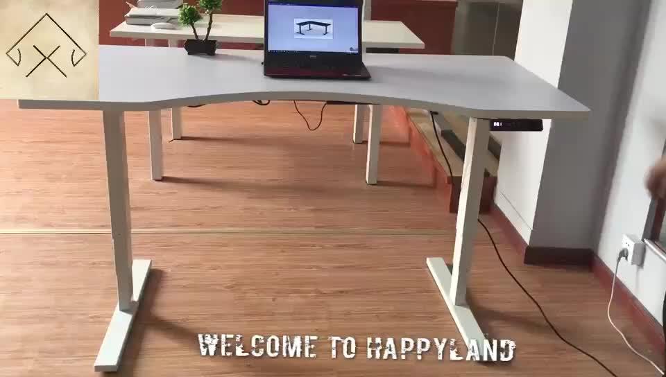 Mobiliário de Escritório de Metal Ajustável Suporte Do Computador de Mesa de Elevação Elétrica Perna