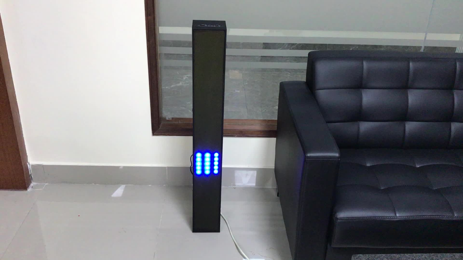 wholesale China factory BT tower speaker with colorful led light