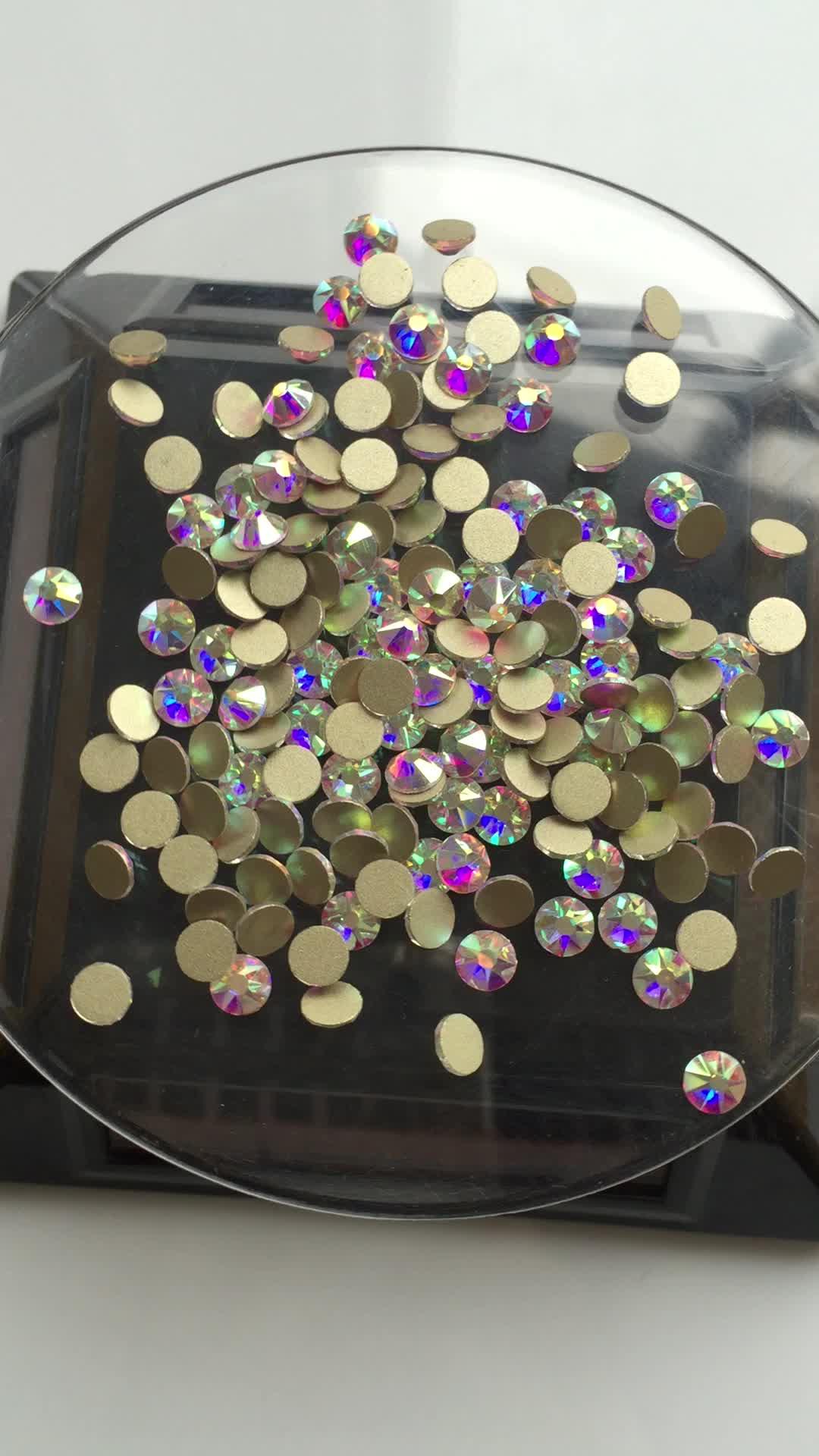Yeni Tasarım Tırnak kristal 16 yüz kesim 8 büyük + 8 küçük fasets kristal rhinestone boncuk flatback rhinestone
