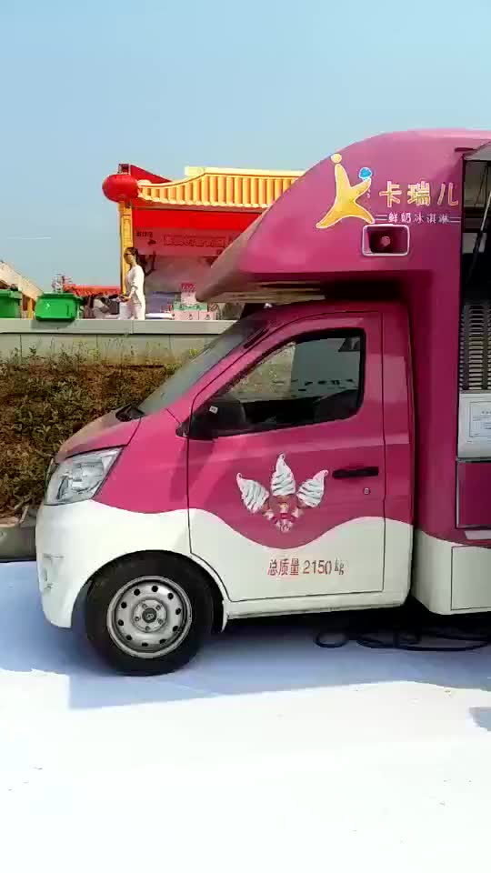 new style four wheels mobile ice cream van food truck for sale buy food truck for sale. Black Bedroom Furniture Sets. Home Design Ideas