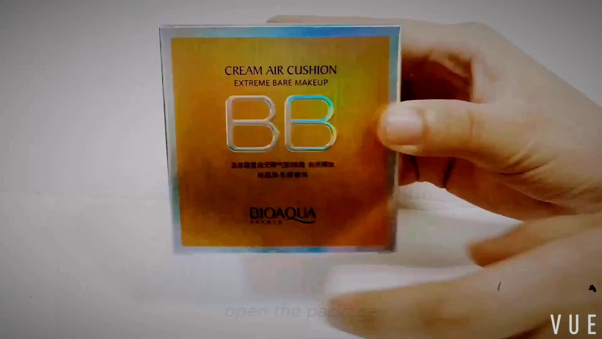 Oem Odm Bioaqua Air Cushion Cc Cream For Skin Care Concealer Smooth Bio Aqua Aircusion Moisturizing Compact Foundation