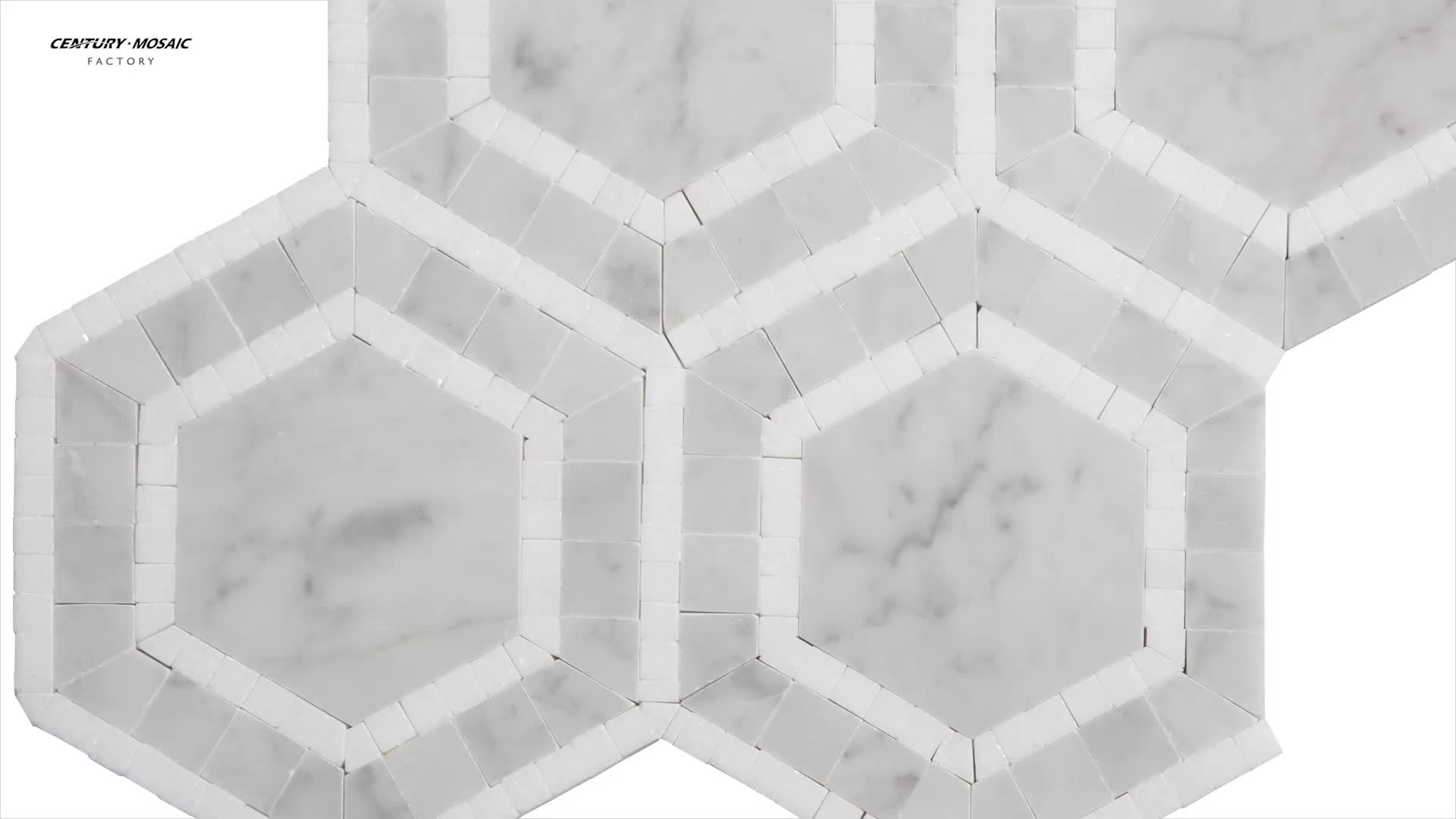 Carrara and white thassos marble hexagon mosaic bathroom floor carrara and white thassos marble hexagon mosaic bathroom floor tile dailygadgetfo Image collections