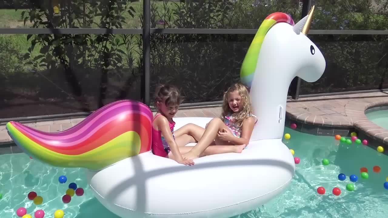 Lake Pool River swimming lounge raft inflatable water bread ring floating