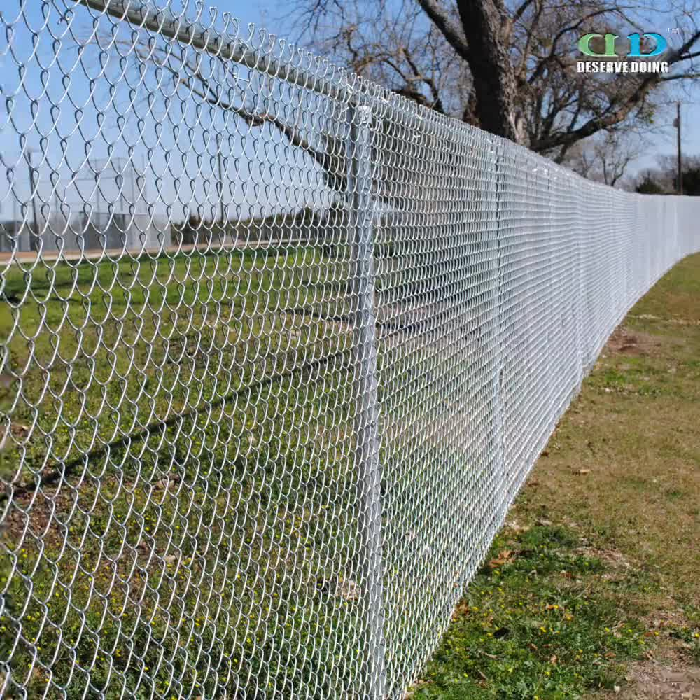 Easy assembly plastic mm galvanized chain link fence