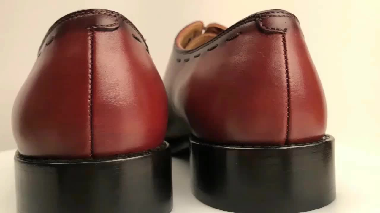 Goodyear Welted Italy Shoes Hand Made Custom Men Genuine Leather Lace Up Mens