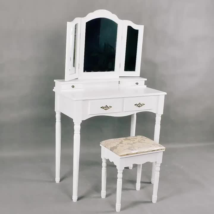 Wooden Makeup Modern Dressing Table Models With Mirror Canada