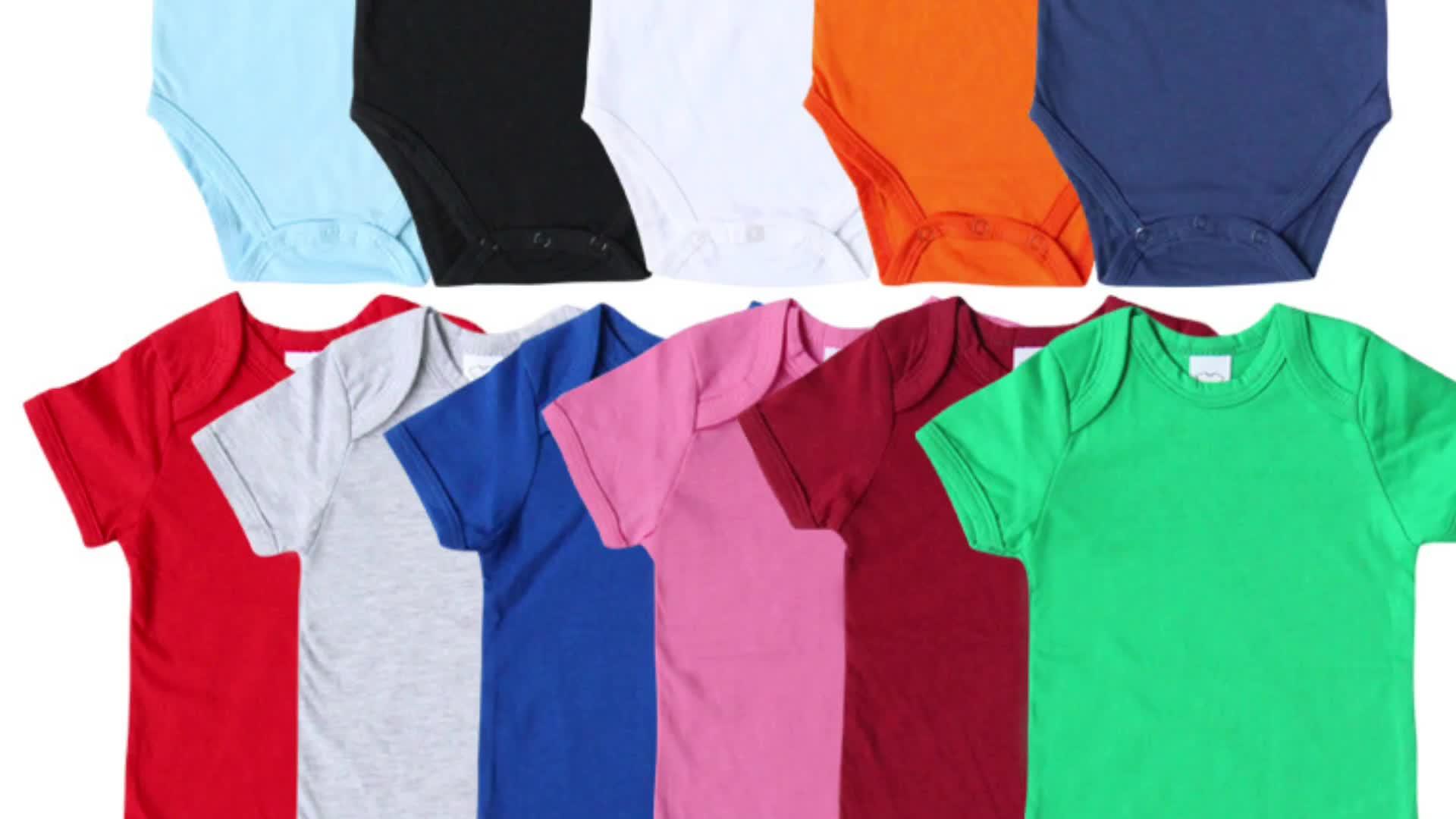 SEV. WEN ฤดูร้อนเสื้อผ้าเด็กทารกผ้าฝ้าย 100% พิมพ์ที่กำหนดเองที่ว่างเปล่าเด็ก onesie