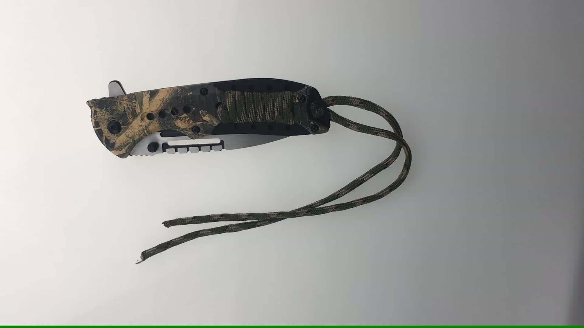 Stainless steel survival camping pocket knife
