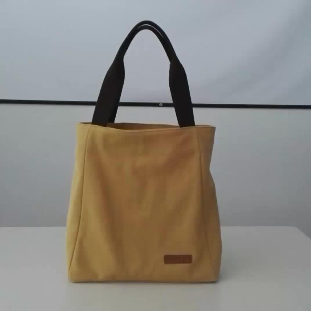 Promotional Logo Printed Custom Canvas Cotton Tote Bag canvas duffel bag
