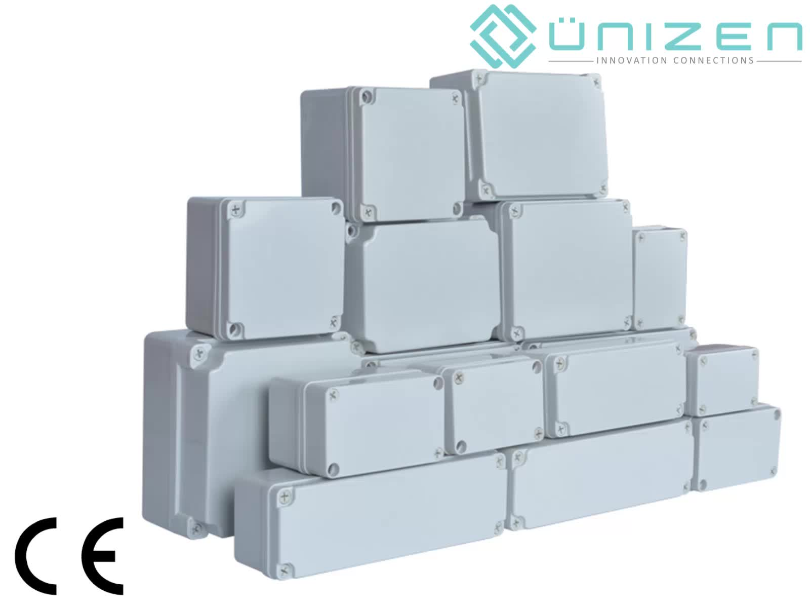 unizen waterproof cable junction box connector clear