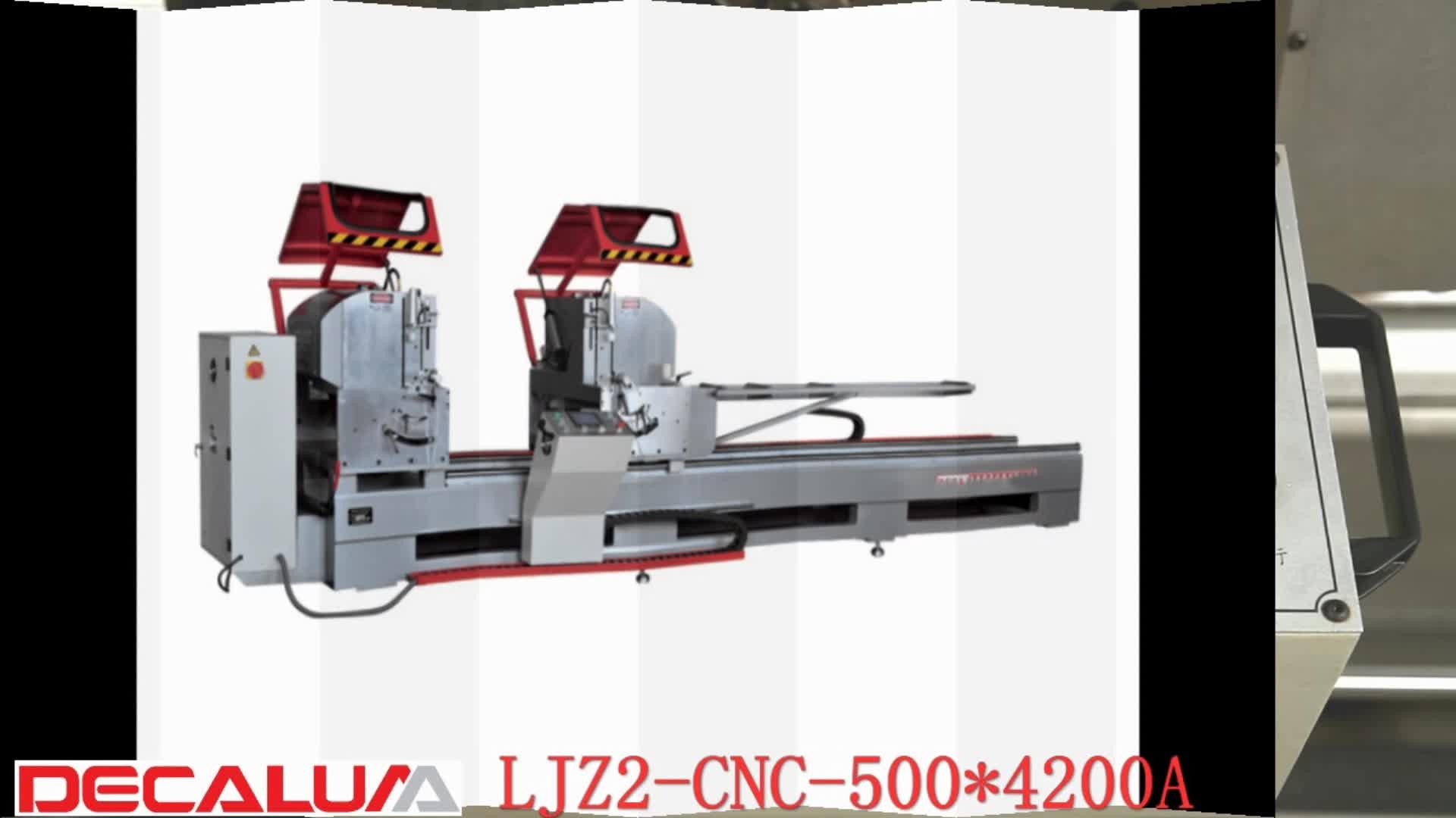 CNC Dubbele Hoofd Precisie Snijden Mitre Saw Aluminium Window Deur Productie Machine