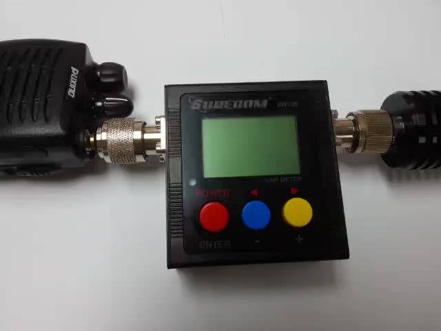 409SHOP SURECOM SW-102 V.S.W.R. POWER METER WITH frequency counter