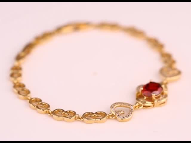 73307 Guangzhou Xuping 18k gold bracelet women, gold plated fashion women charm bracelet