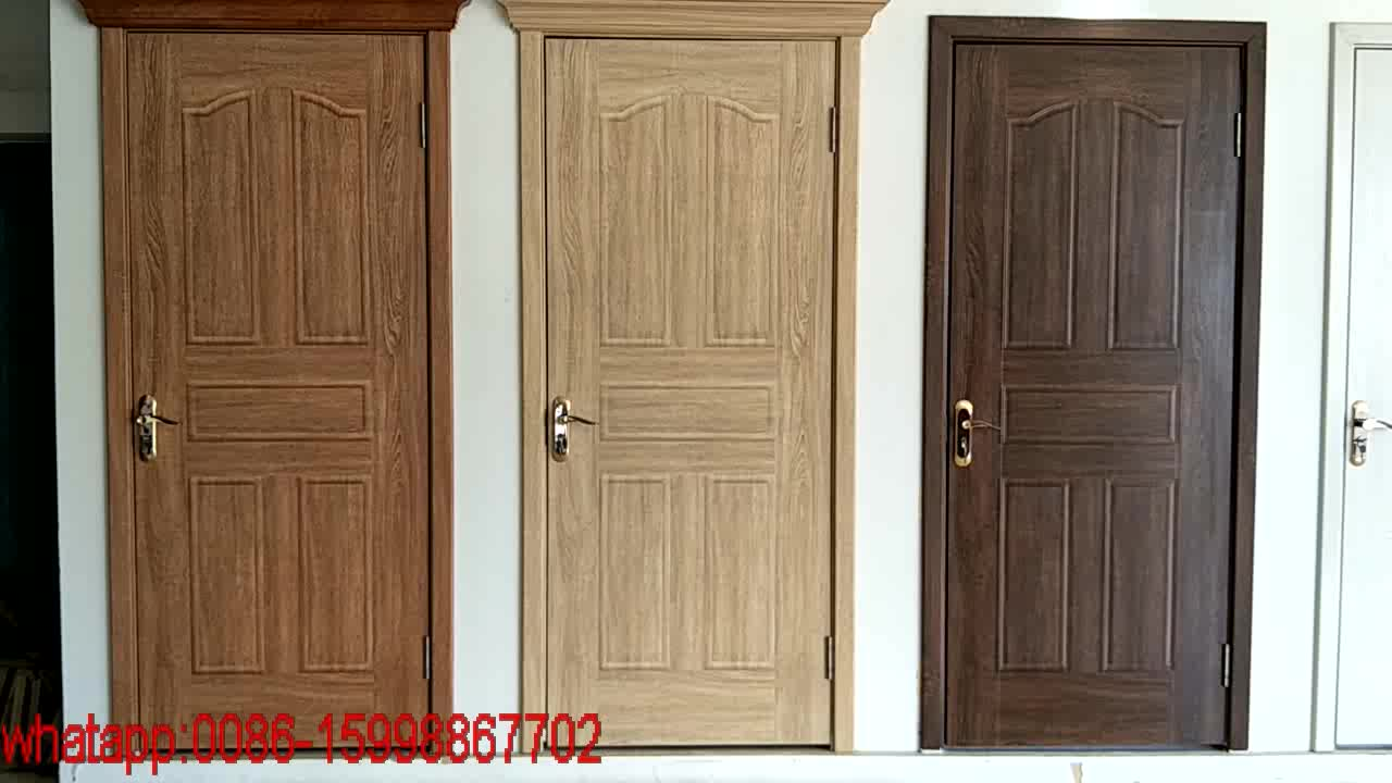 Fashion design simple decorative interior wood doors buy for Wood door design latest