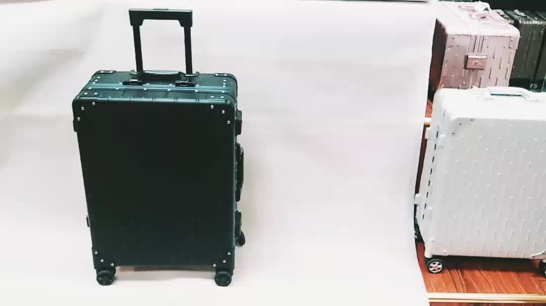20 inch Champagne Color Hard Shell Aluminum Trolley Suitcase