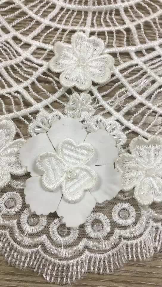 Latest d african embroidery lace fabric in dubai for
