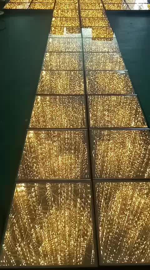 DMX espejo dorado led iluminado infinito baile China comprar disco de baile