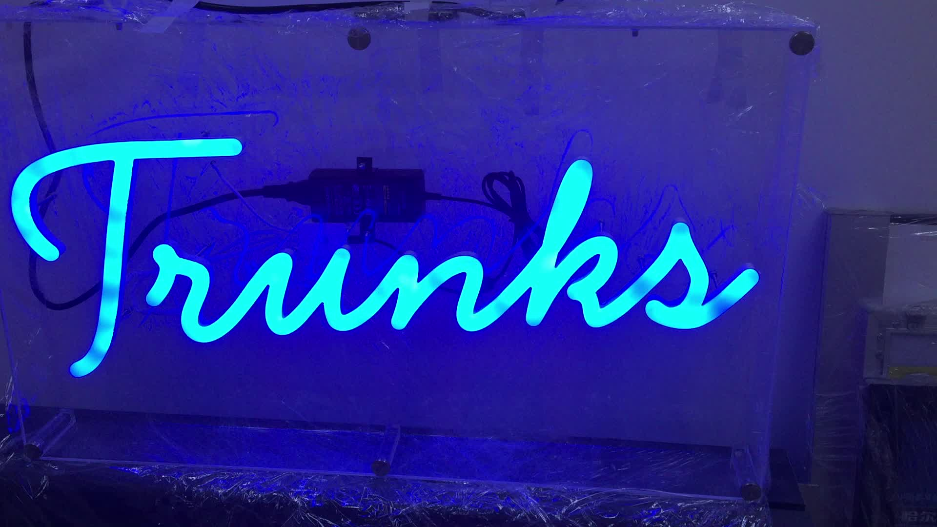 rgb color channel neon signage letters acrylic led letters decorative custom made flex glass neon led sign