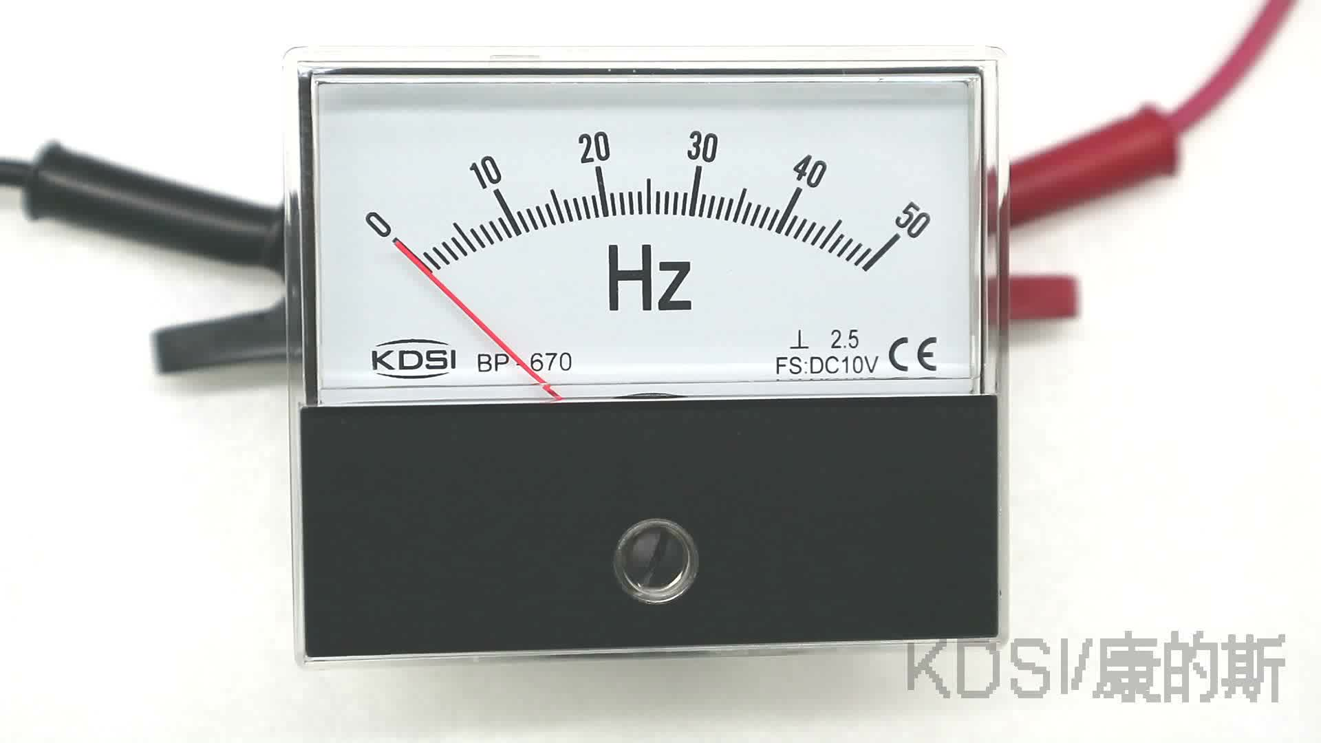 60 Hertz Frequency Meter : Bp frequency meter hz dc v analog