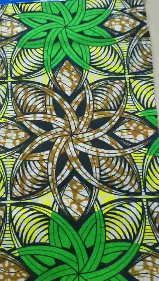 2020 hot sale  african wax prints fabric hollandais 6 yards per pc