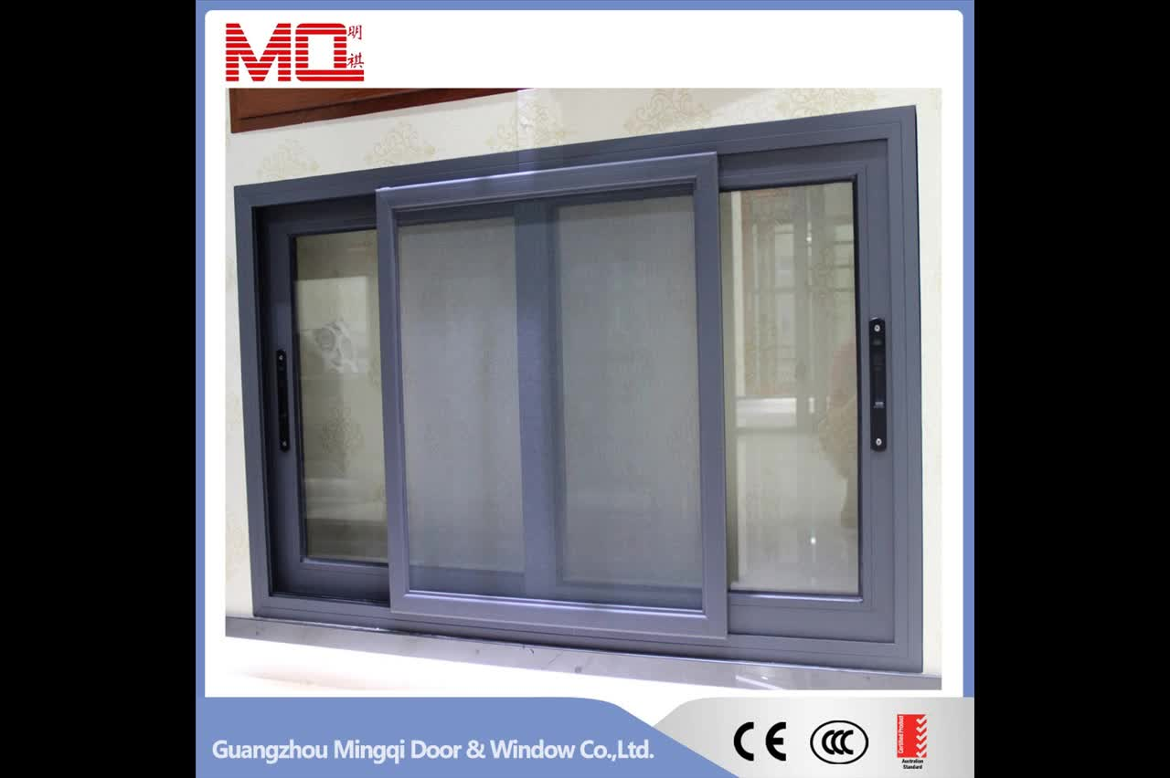 Cheap price double glass sliding windows aluminium windows for Window design pakistan