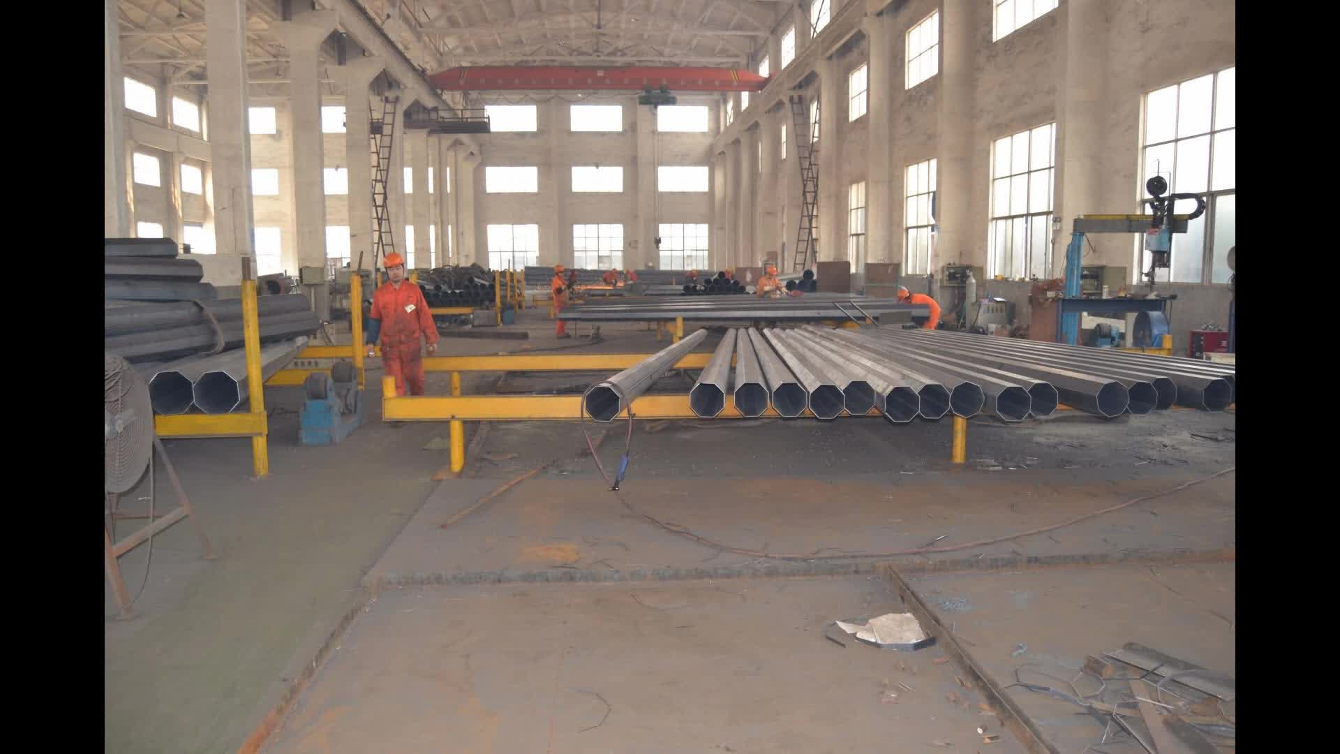 69kv tapered octongal steel galvanization electric pole power distribution