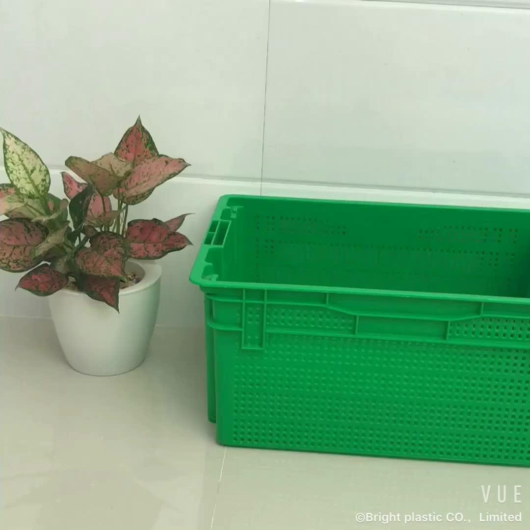 एप्पल के लिए नारंगी फल सब्जी प्लास्टिक की तह टोकरा प्लास्टिक बक्से बिक्री