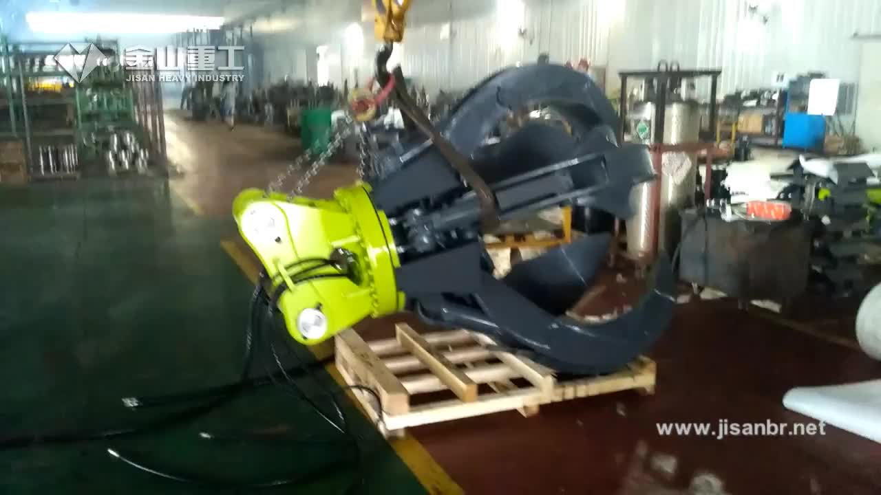 Heavy duty excavator used Orange Peel Grapple