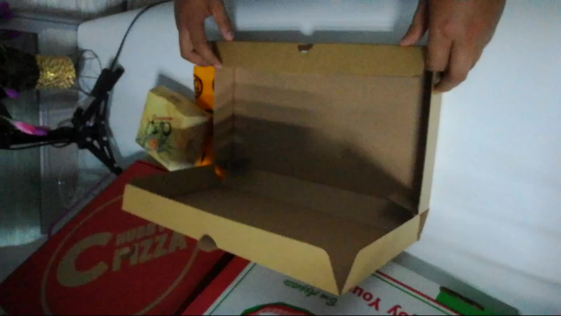 10-18 corrugated  pizza packaging box