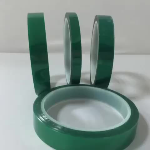 High Temperature Heat Resistant Green PET Protection Tape for PCB Solder Welding Repair