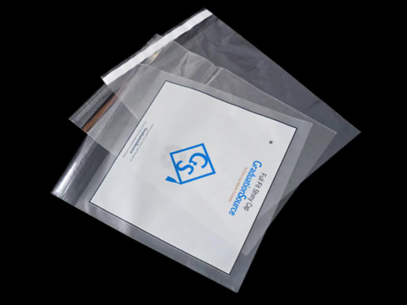 Resealable cello custom print clothing clear poly self for Clear shirt packaging bags