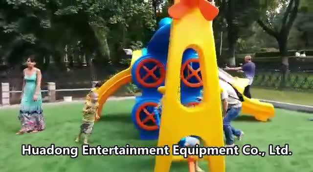 Kleine Pretpark Commerciële Plastic Outdoor Speeltoestellen
