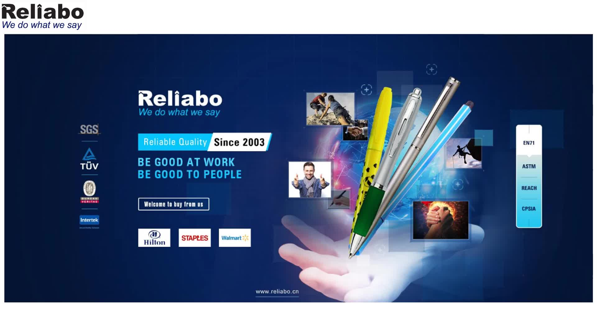 Reliabo Super September Purchasing Promotional Logo Printed Custom Fine Point Permanent Marker