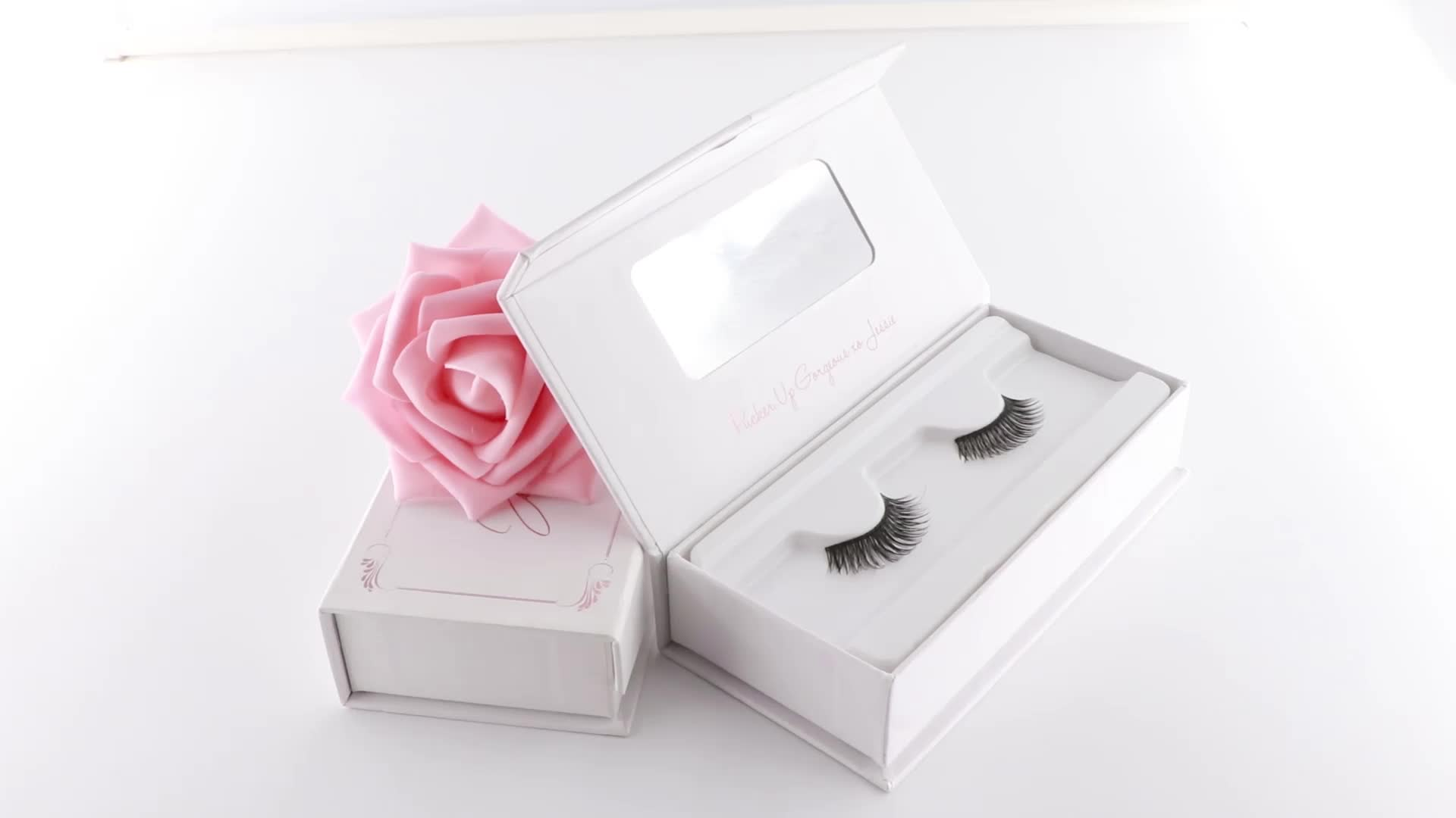 2019 factory custom book shaped luxury custom mink eyelash box packaging 3D eyeshadow palcete lash box