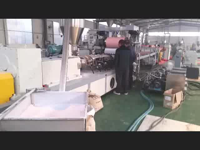 pvc sheet edge banding making extruder machine production line for furniture cover China Qingdao Tongsan supplier factory