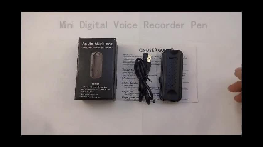 Kingneed Q6 8 GB grande memória espião gravador de voz de voz de longo alcance gravador de voz digital ativado