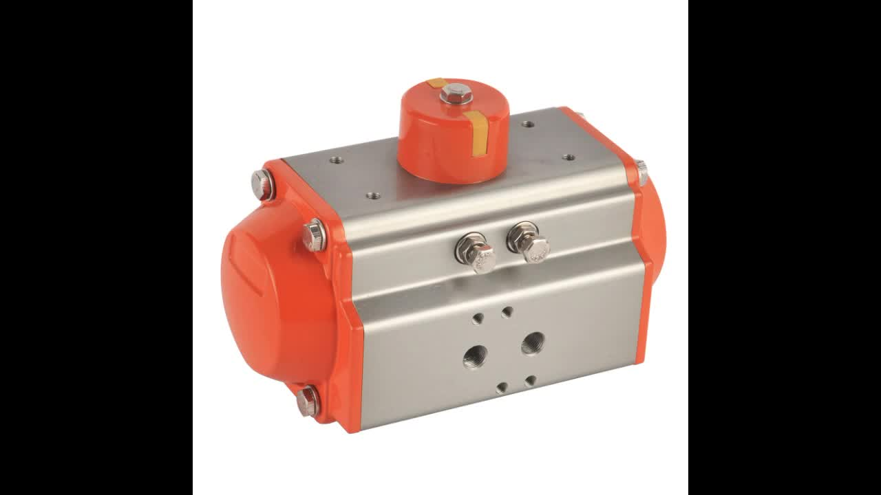 DN50 ISO standard double acting stainless steel pneumatic actuator ball valve