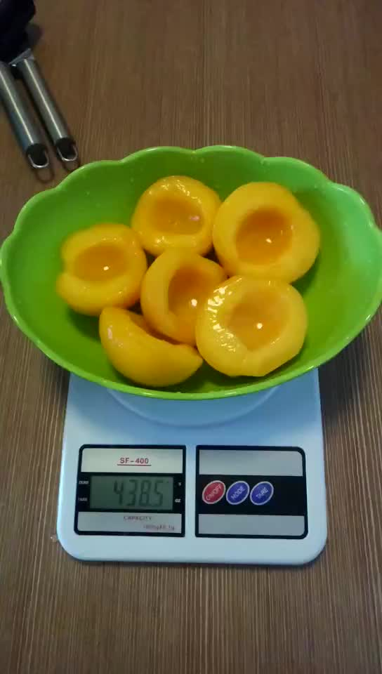 Fresh canned fruit canned yellow peach in syrup