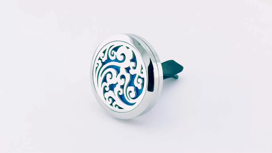 Hot Sale 30mm Silver 316L Stainless Steel Car Diffuser Locket Jewelry