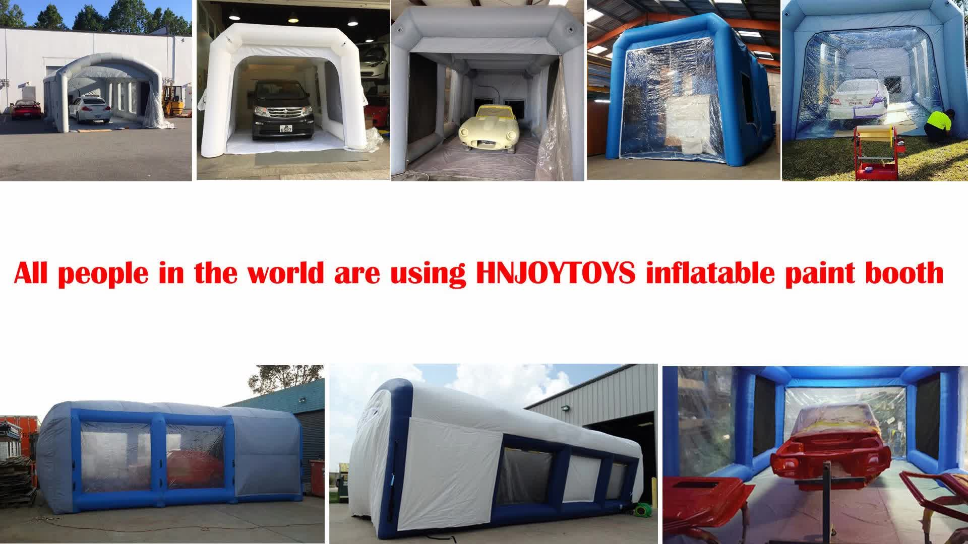 Hot sale Competitive Removeable Customized Inflatable Spray Paint Booth in promotion cheaper