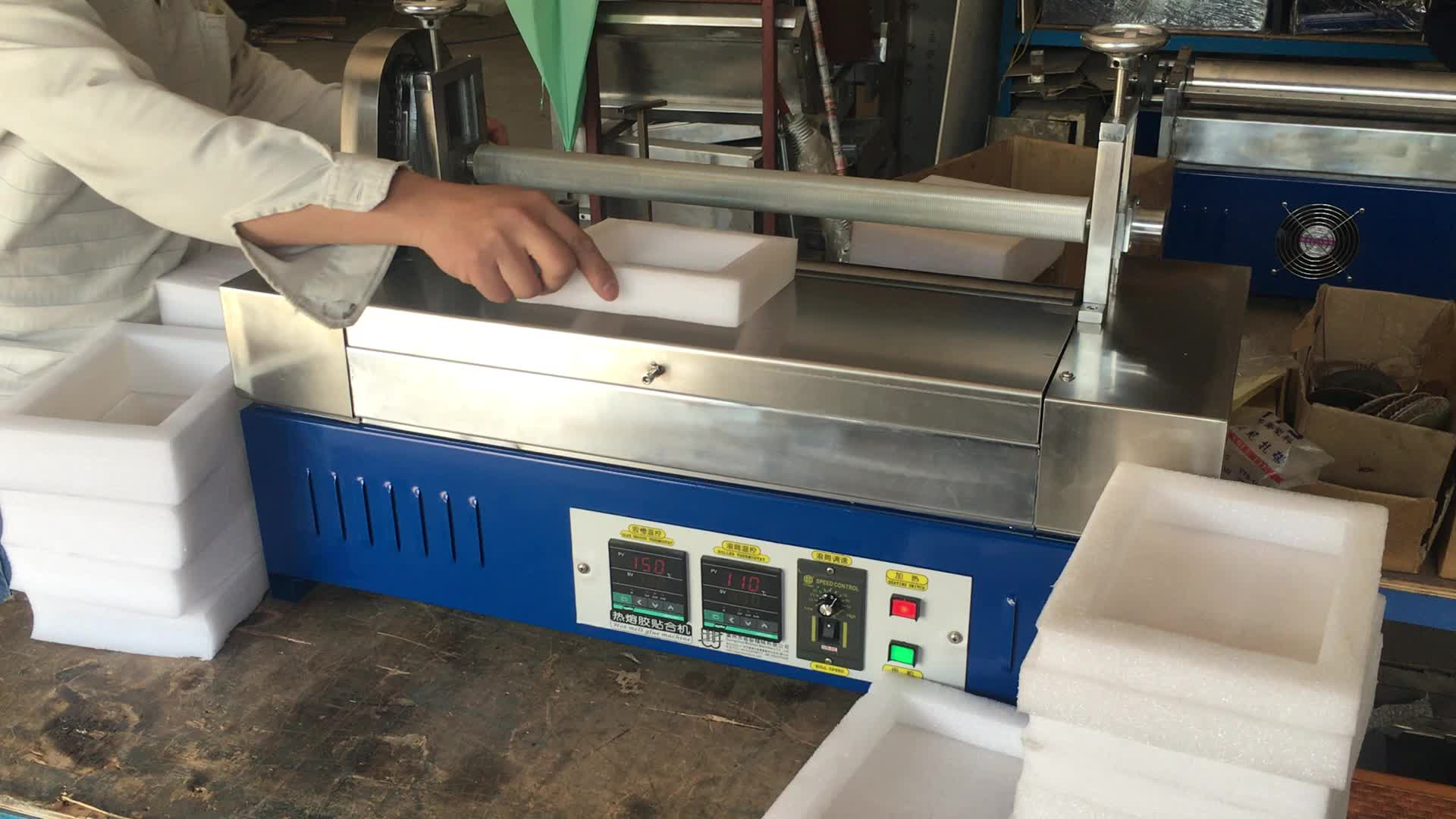 Verpackung schaum wz-s800l schmelzkleber rolle mantel maschine