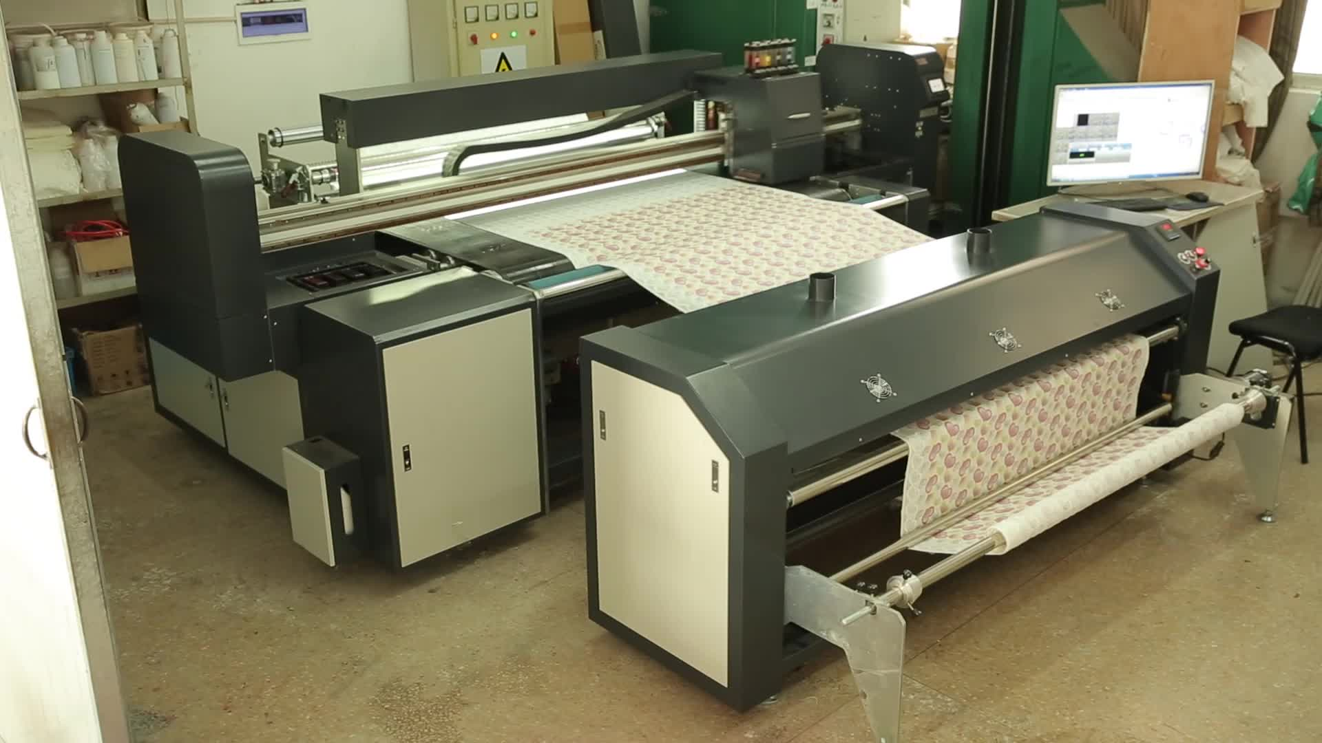 Embroidery,Jacquard, Gold Blocking Localization Fabric Printing Machine