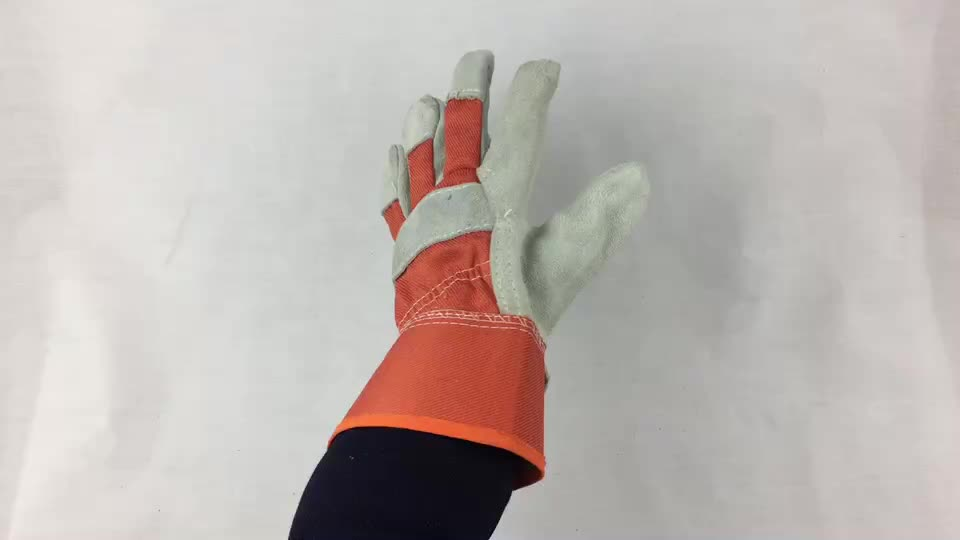 Lowest price industry hand glove welding gloves protective gloves leather work safety gloves