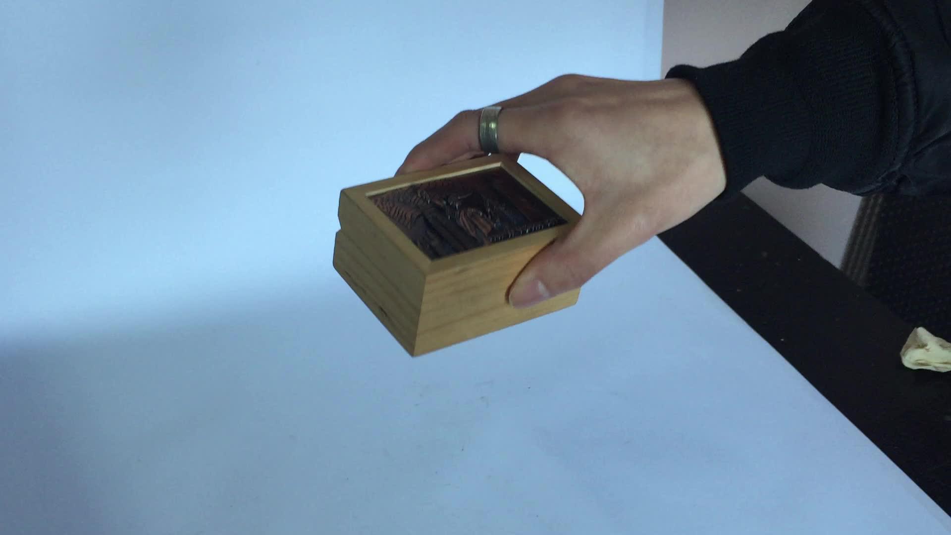 Lembrança do turista americano de madeira caixas de música canção naturais shell personalizado para venda