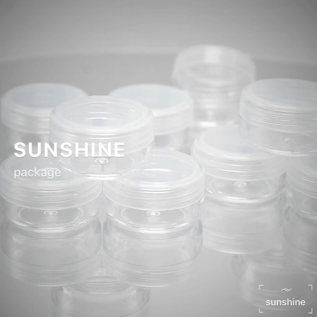 Empty cream plastic containers cosmetic round white cap PP 3g 5g gram mini jar