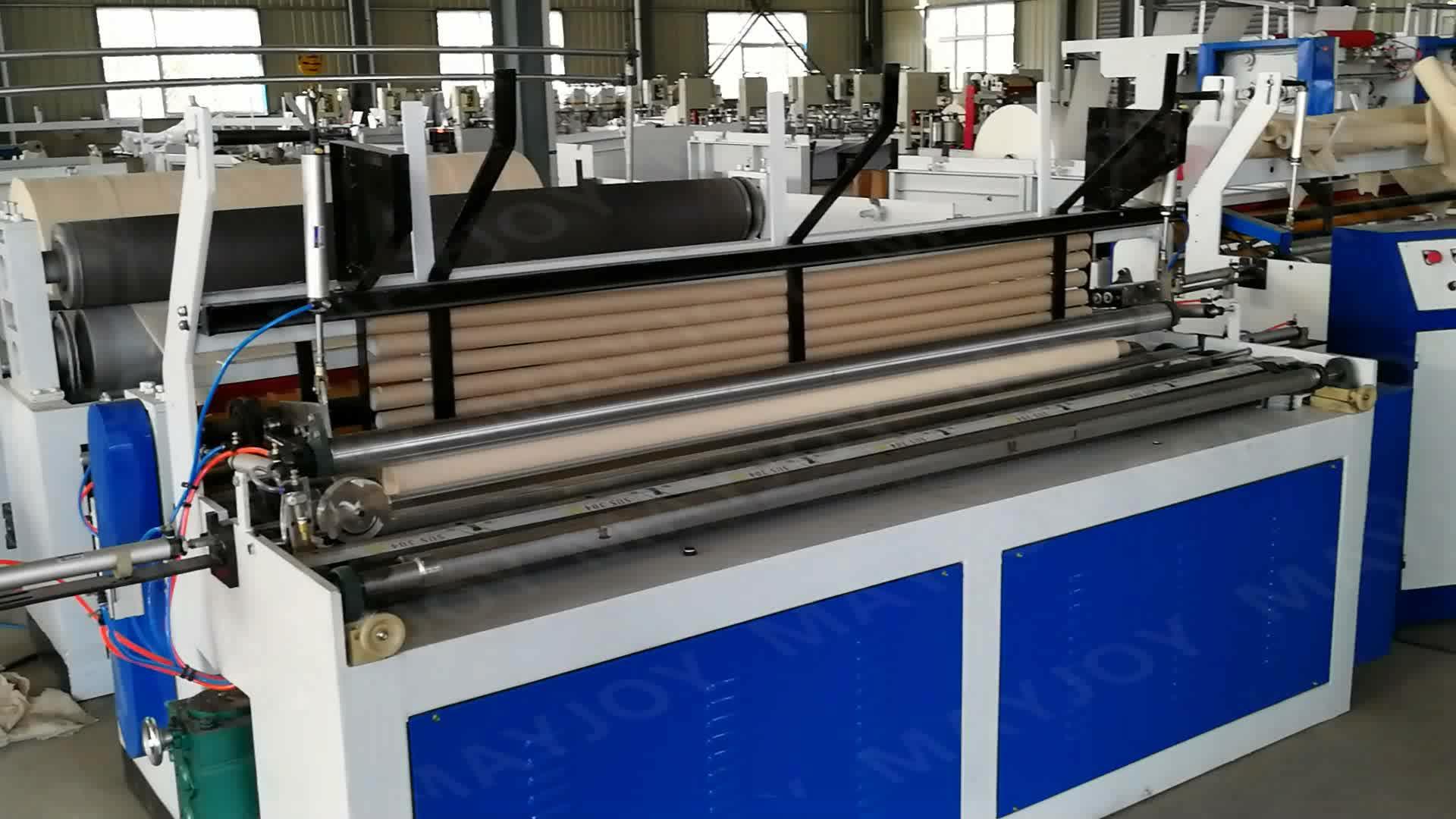 MAYJOY kağıt makinesi / küçük tuvalet kağıdı rulosu yapma makinesi üretim hattı