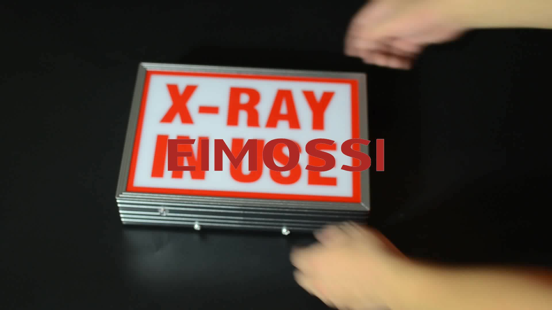 x-ray in use led warning sign