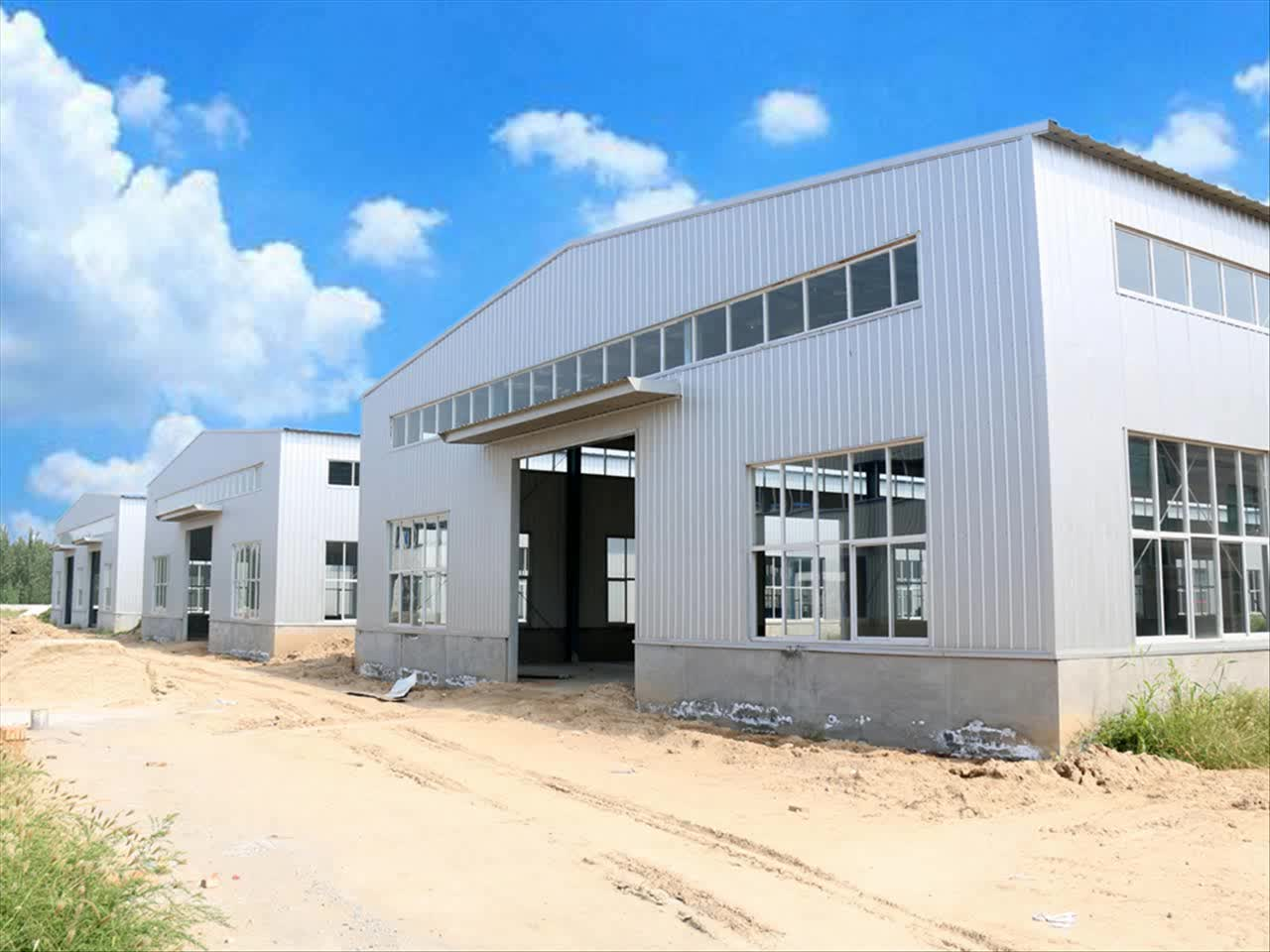 Prefabricated Warehouse Roof Structure Industrial Steel